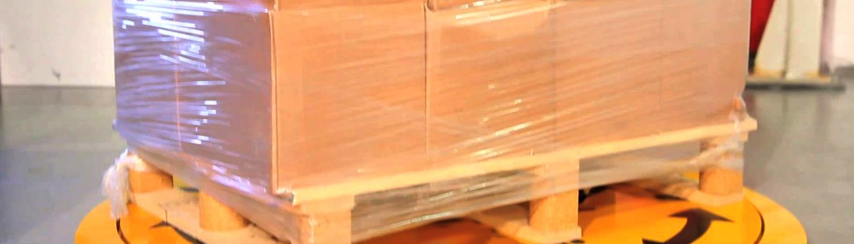 Cardboard on Cartoturn pallet turntable