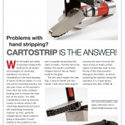 """""""Product of the month: Problems with hand stripping? Cartostrip is the answer"""" article"""
